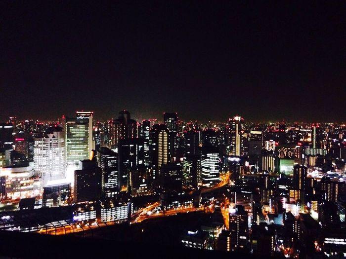 Japan OSAKA Umeda Sky Building Night Scene View Cityscapes
