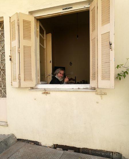 Local Man Greece Crete Smoker Window Inside EyeEmNewHere