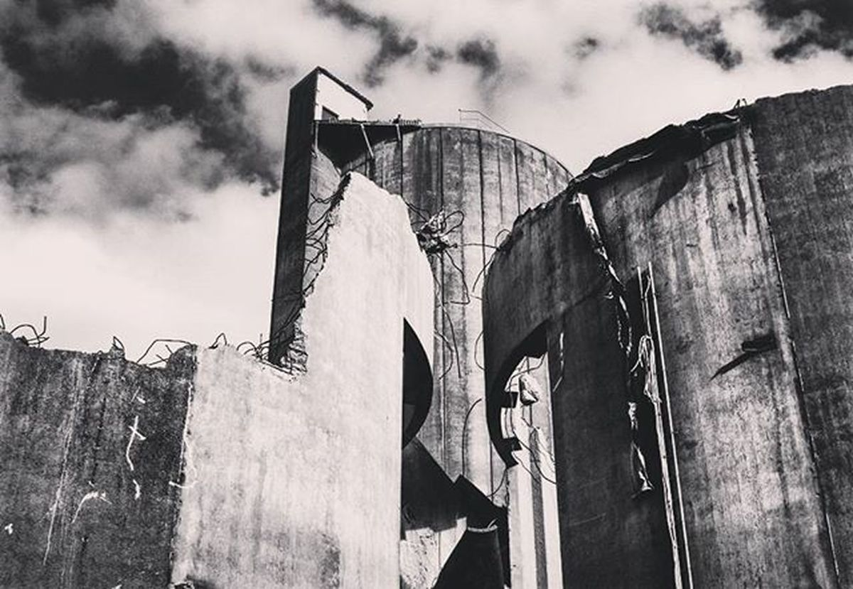 Cementa Cement Destroyed Rivning Memory Minne Limhamn Blackandwhite Photo
