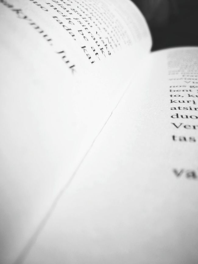 Close-up Paper Page Letters Text Lithuanian Girl Norway Books ♥ Best Way To Read