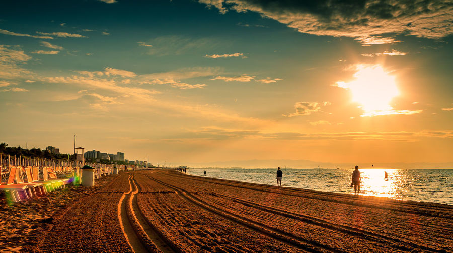 Romantic light during golden hour on beach in Lignano Romantic Beach Beauty In Nature Cloud - Sky Day Golden Hour Lignano Nature Outdoors Romantic Beach Romantic Sky Scenics Sea Sky Sunset Water