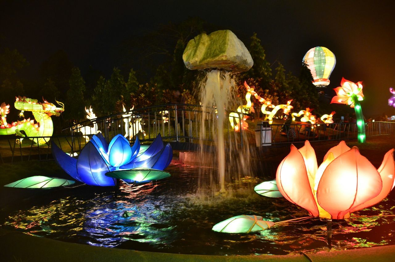 the fountain Water_collection Check This Out I Love Indonesia Eye4photography  @ Batu Night Spectacular night park
