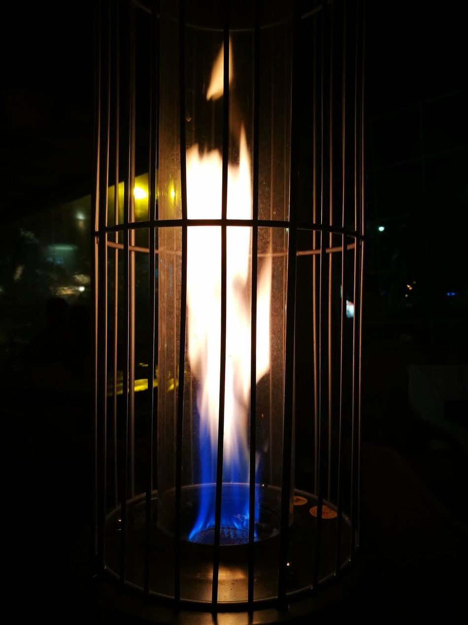 Come on baby, light my fire... Illuminated Indoors  Lighting Equipment Night No People Flame Gas Flame Heating Heating System Blue Flames Burning Blue Lieblingsteil Miles Away
