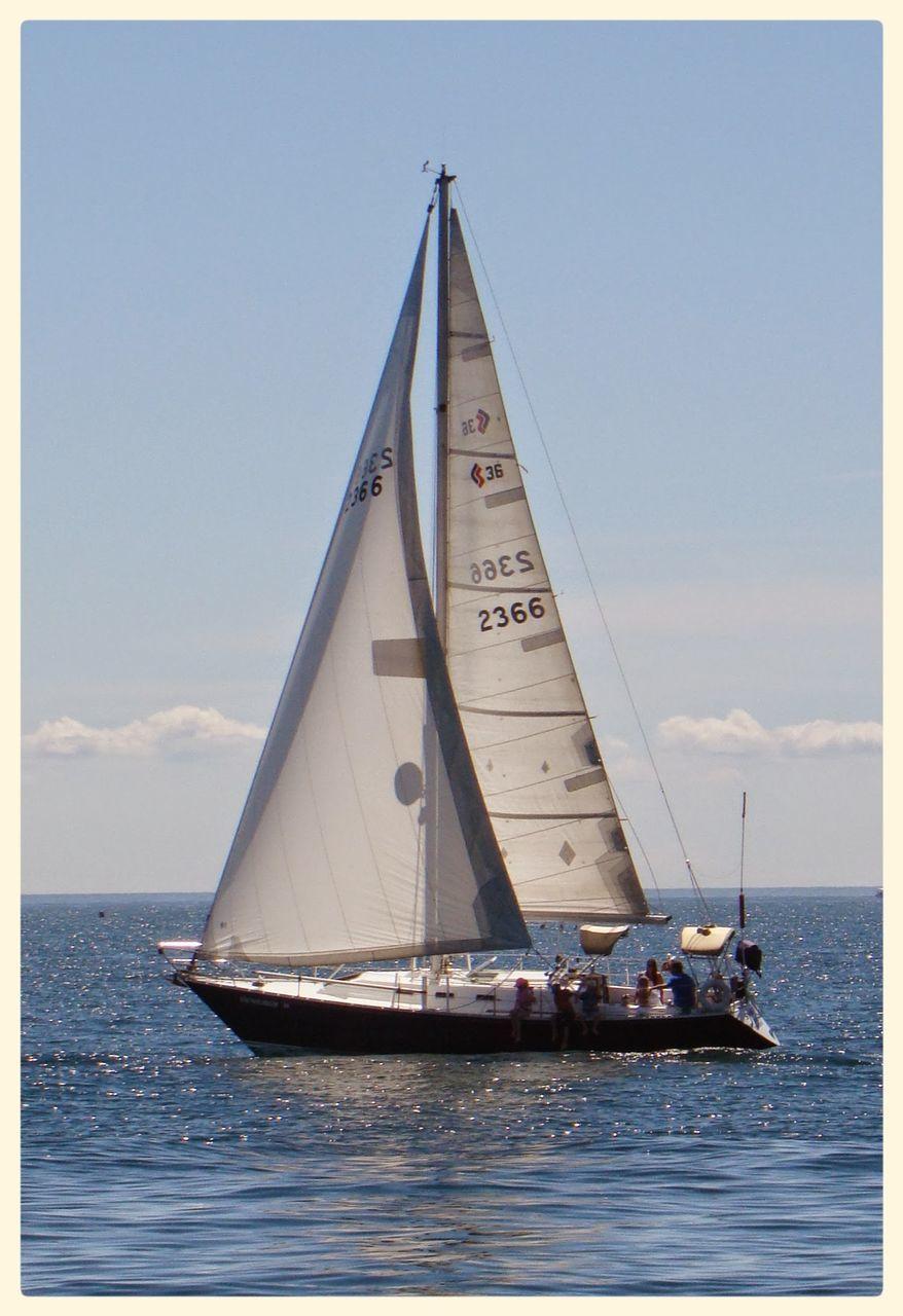 sea, nautical vessel, water, day, no people, transportation, sky, outdoors, sailboat, sailing, horizon over water, mast