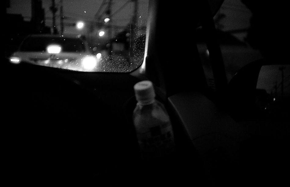 Film Bnw Car Land Vehicle Window Mode Of Transport Night Transportation Illuminated Bottle No People Indoors  Close-up City