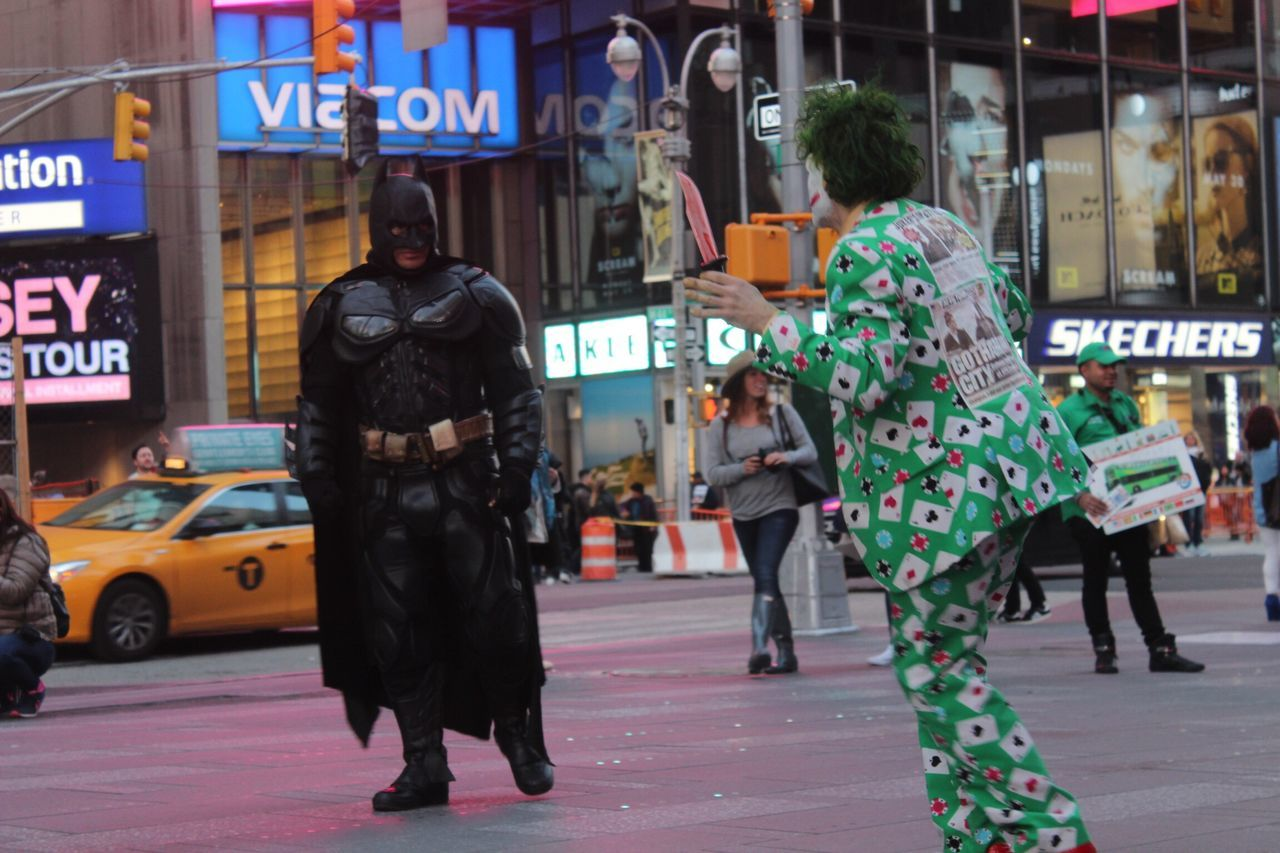Batman KickerFull Length City People Outdoors Adult Day Times Square NYC NYC Street Photography New York Joker