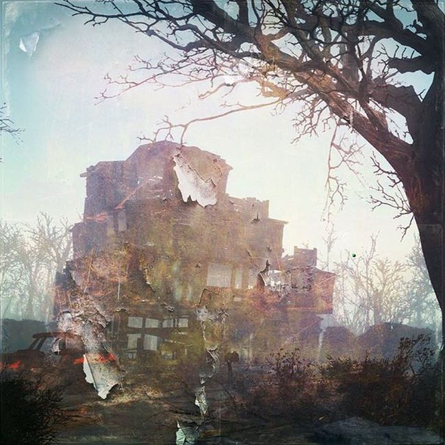 Fallout4 Home Crafting Iphone6 Ios Stackablesapp Filter Tree Nuke Commonwealth Art Painting Rust Car Street @stackablesapp