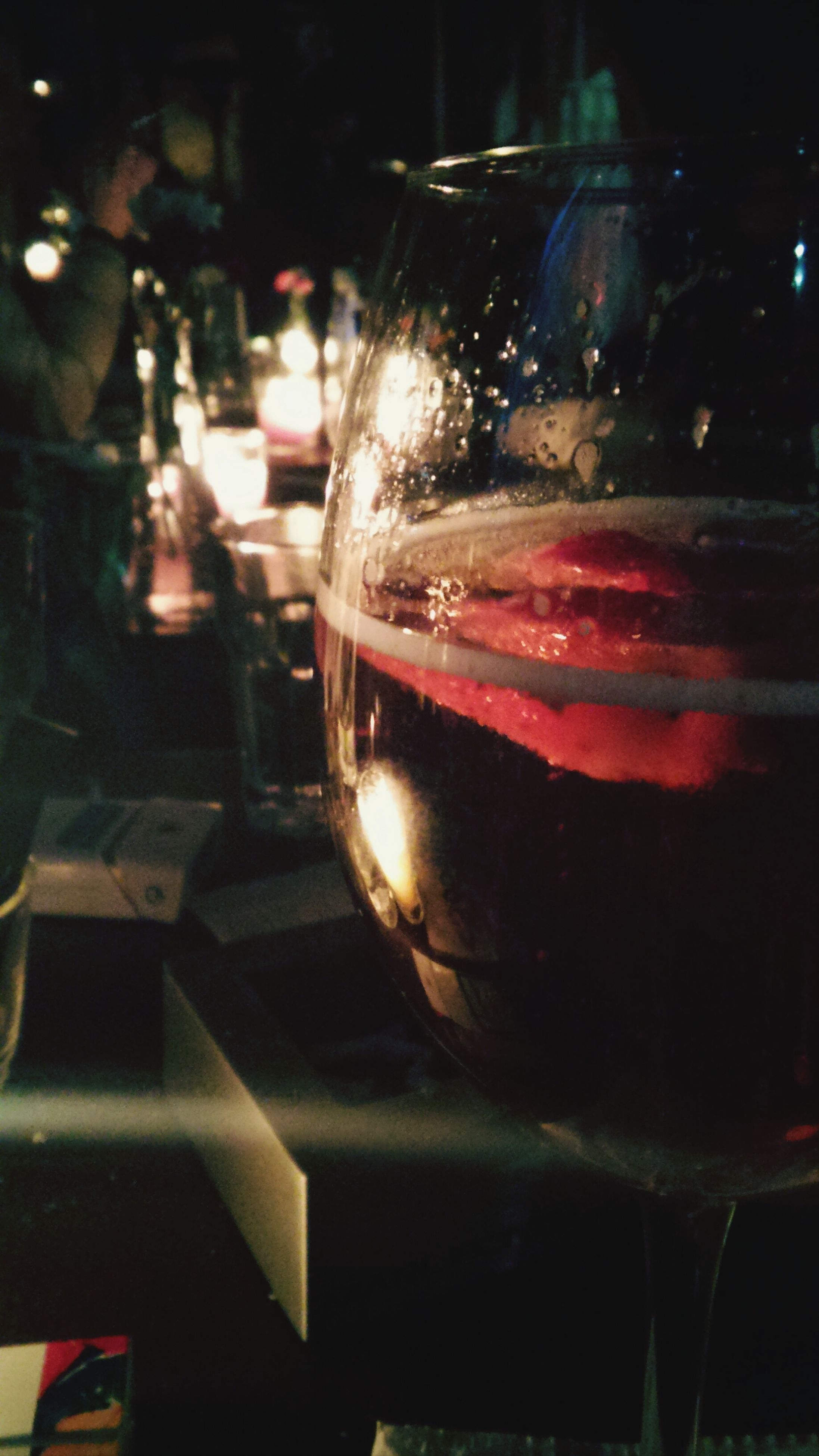 drink, food and drink, drinking glass, refreshment, glass - material, close-up, transparent, indoors, focus on foreground, alcohol, illuminated, night, freshness, table, restaurant, wineglass, still life, glass, cocktail, no people