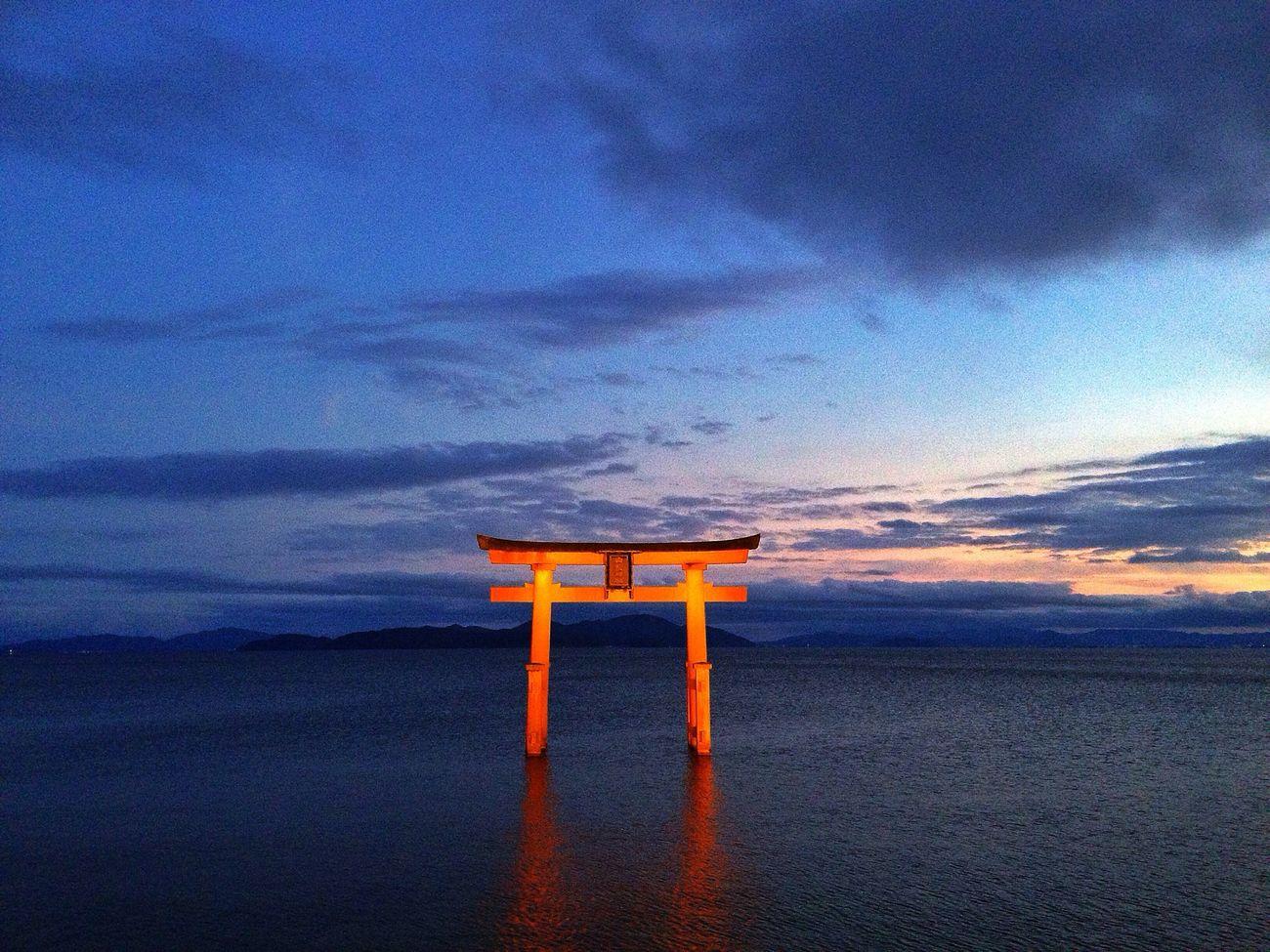visit to the shrine Taking Photos Lake Shrine Japan