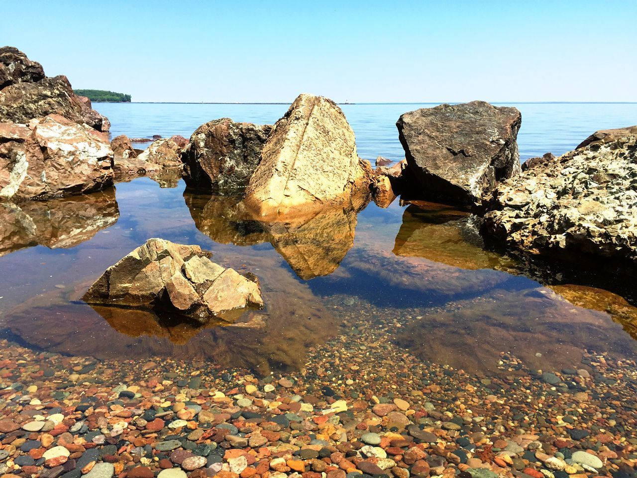 Rocky Lake Superior beach Water Nature Beach Outdoors Beauty In Nature Iphonography Puremichigan Reflection Rock