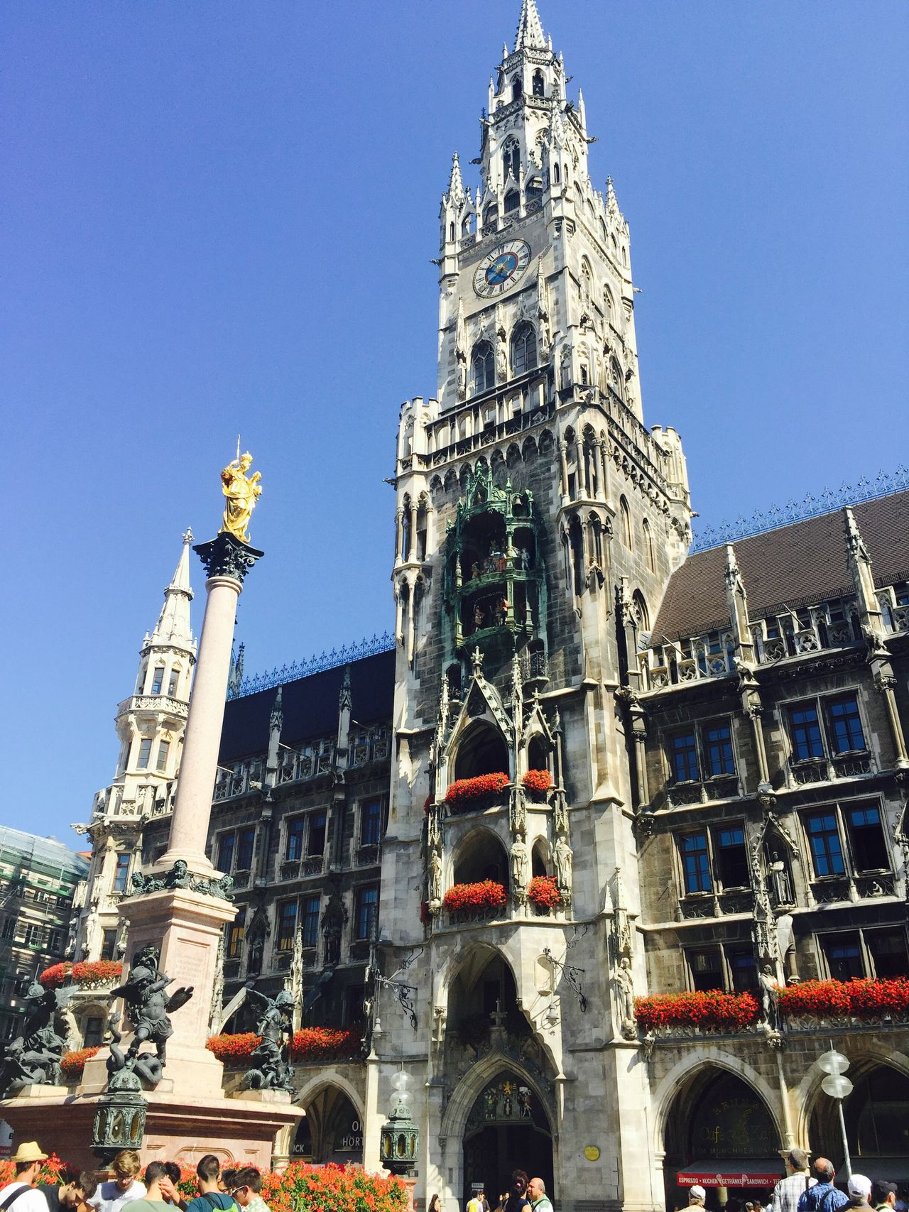 Munich city center Munich Munich Architecture Munich, Germany Found On The Roll Travel Around Europe 2015 Marienplatz Mariensäule Dance Cooper Historical Monuments History Architecture Historycal Place Monuments Of The World Monuments & Statues Munich History