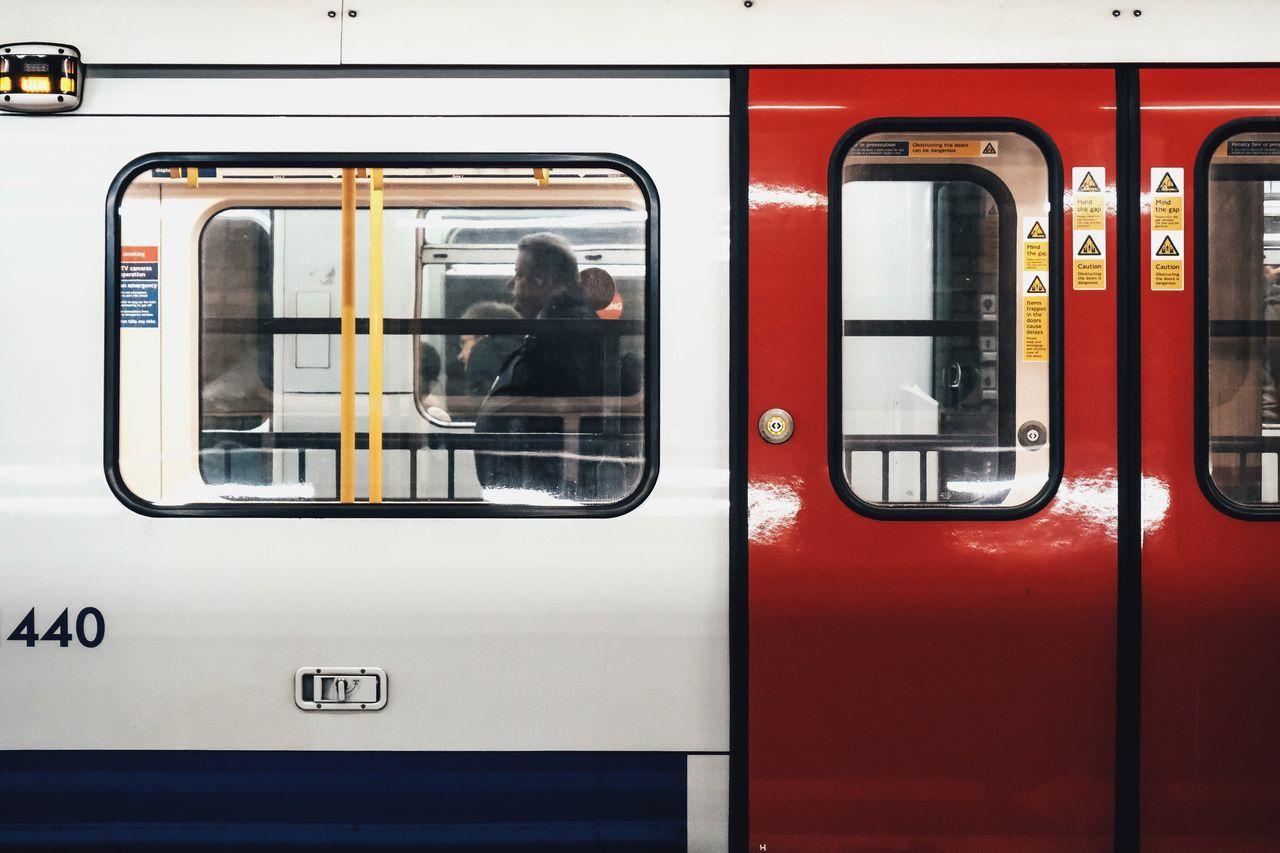 EyeEm LOST IN London London Tube London London Lifestyle LONDON❤ London Tube Tube Mind The Gap Window Public Transportation Train - Vehicle Transportation Mode Of Transport Passenger Train Rail Transportation Day Real People