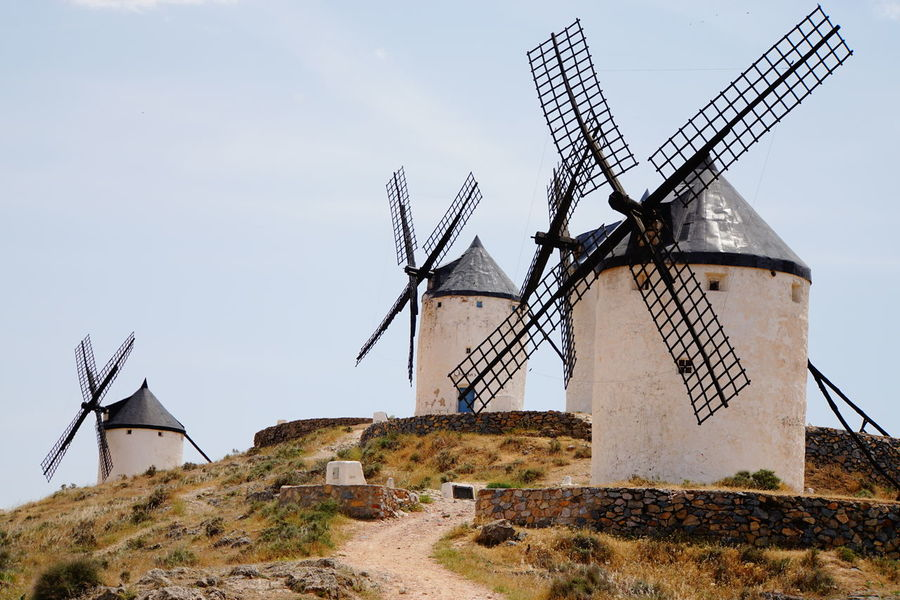 Alternative Energy Consuegra Day Don Quijote Environmental Conservation Hill No People Outdoors Sony A6000 The Way Up Wind Power Windmill