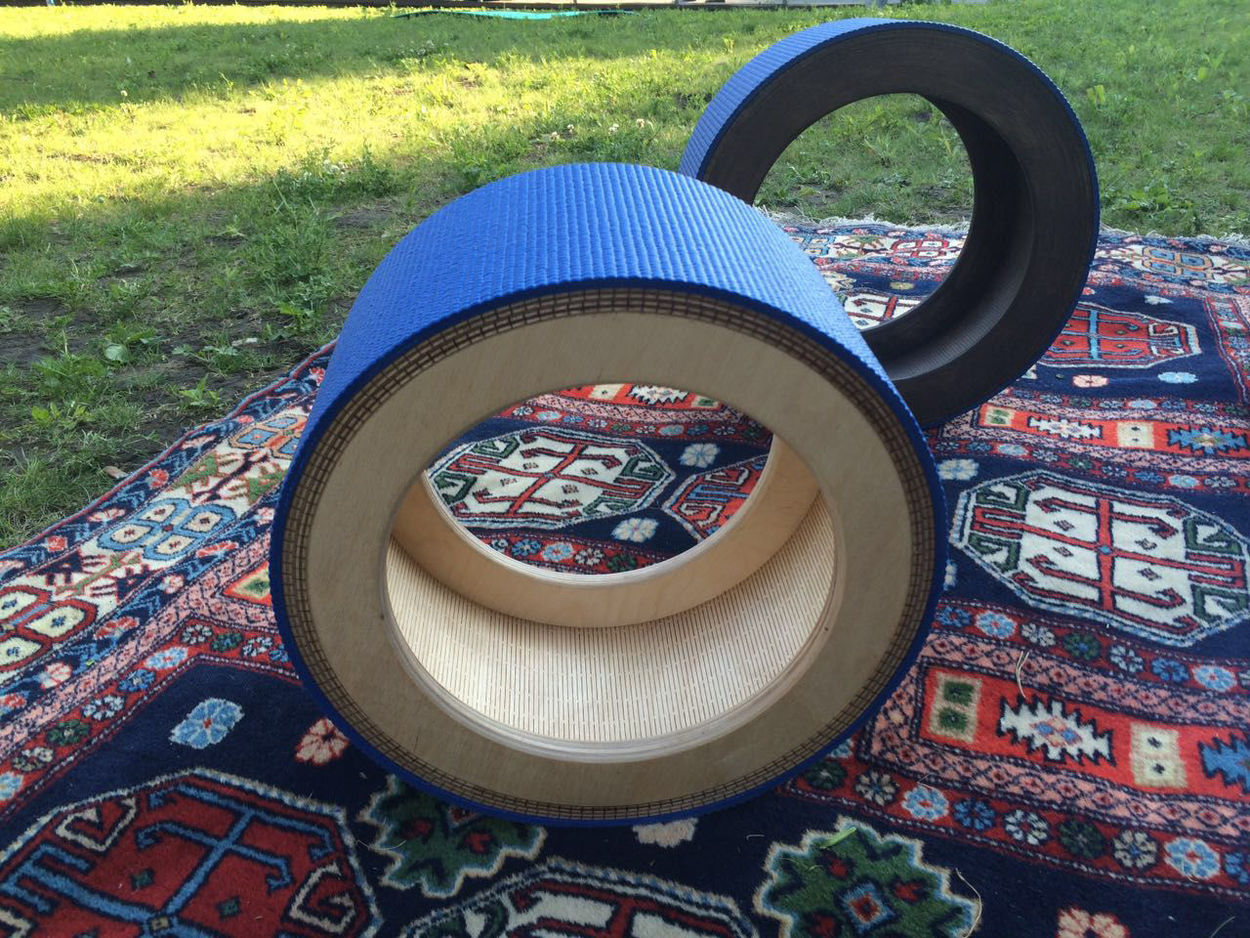 Architecture Circle Close-up Day Grass No People Outdoors Yoga Wheel