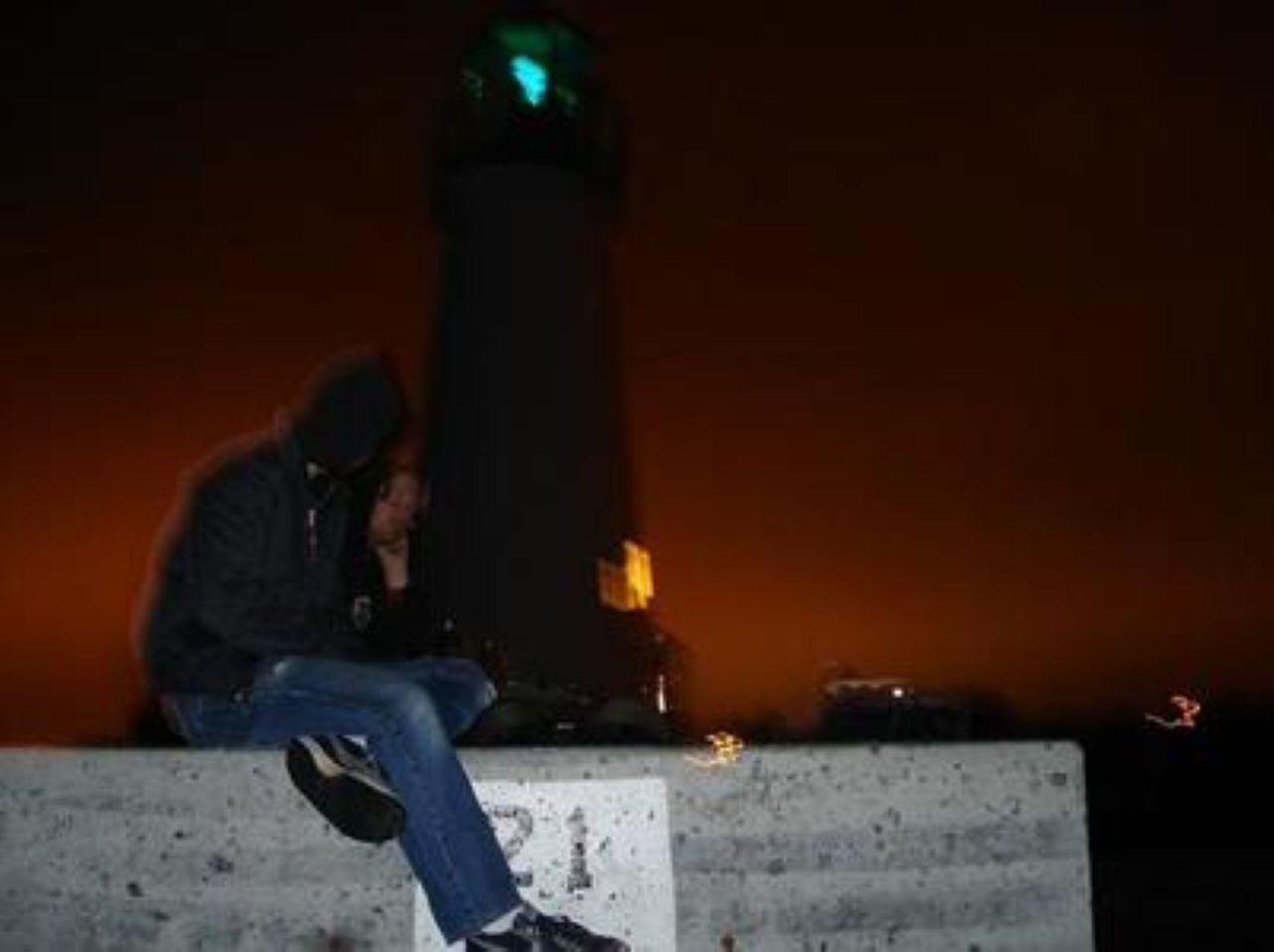 everything arpund me is in motion and im the only thing that doesn't seem to move..... 21 Blurred Background California Lighthouse Casual Clothing Dark Focus On Foreground Glowing Illuminated Leisure Activity Lifestyles Lighthouse Lighthouse At Night Lighting Equipment Lit Night Orange Hue Selective Focus Unrecognizable Person