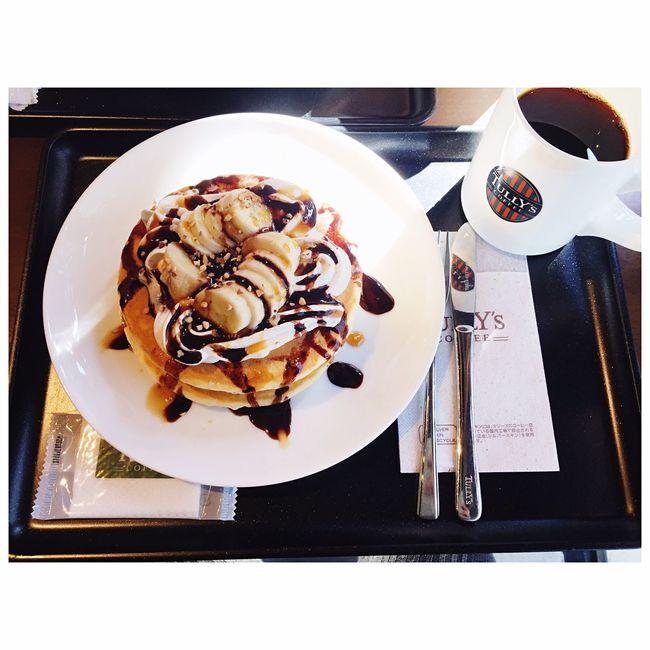 家の近くのタリーズでまったり♡贅沢な時間(^^) Tully's Coffeetime Cafe Coffee Pancakes Holiday EyeEm Best Shots