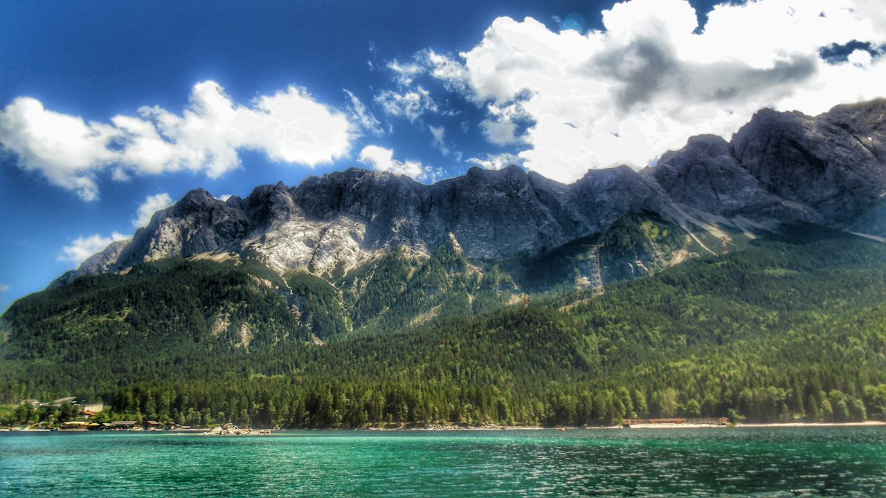mountain, sky, nature, water, scenics, beauty in nature, waterfront, tranquility, day, cloud - sky, sea, outdoors, no people, tree