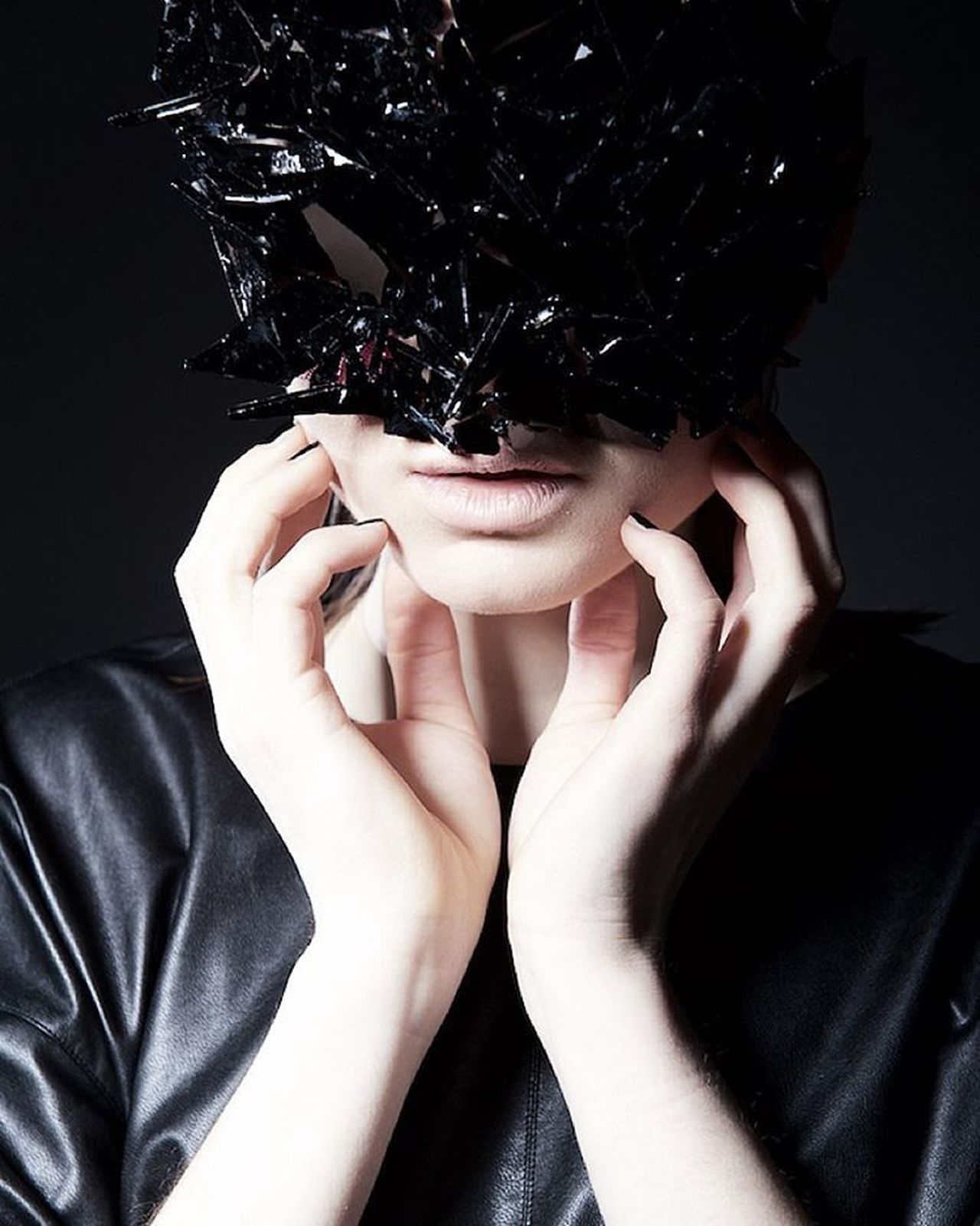 Black Background Casual Clothing Close-up Cropped Editorial  Editorial Fashion Editorialphotography Fashion Fashion Photography Fshionstyle Human Finger Leisure Activity Lifestyles Mask Masked Maskedportraits Masks Part Of Person Personal Perspective Style Style ✌ Touching Unrecognizable Person