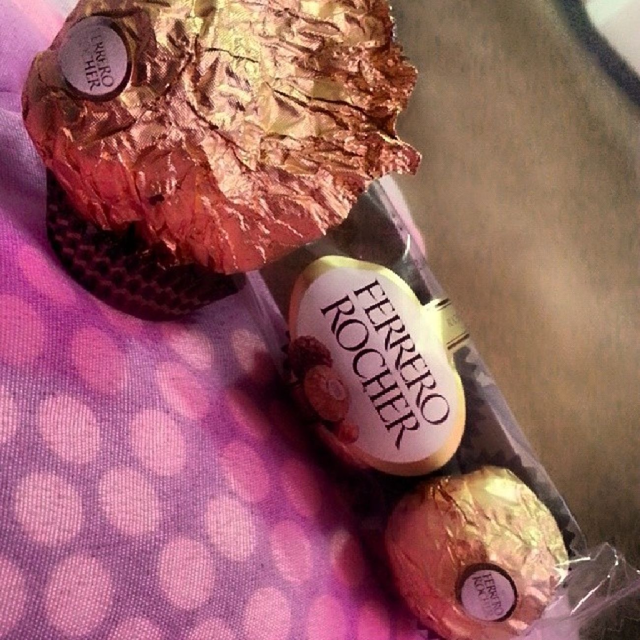 Something is making my heart super happy and my taste buds tickle. Love Chocolates GettingFat Comfortfoods happy ferrero ilovechocolates 100happydays day2