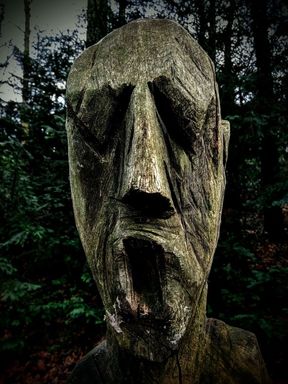 Statue Sculpture Outdoors Face Close-up No People Fresh Check This Out Htc10 HTC_photography Creepy Creepy Face SlenderMan