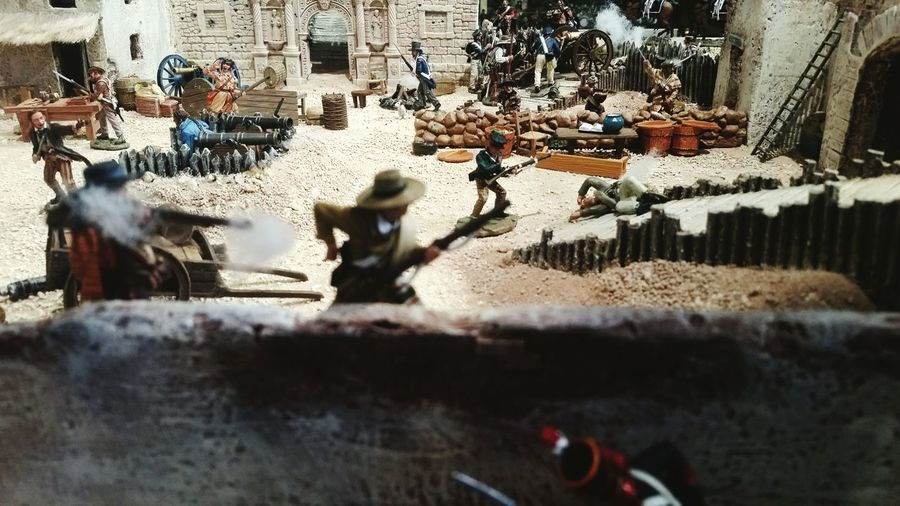 Alamo Figurines  Arranged Jim Bowie William Travis David Crockett EyeEmNewHere
