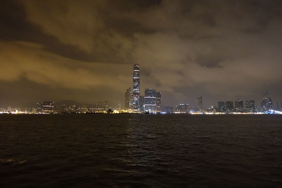 Victoria Harbour in Hong Kong at 3 am Bay By Night Center City Citylights Cloud - Sky Ferry Ferry Views Hong Kong Hong Kong Harbour Illuminated Lights And Shadows Megacity Metropole Neversleep Night No People Sea Silent Sky Urban Scene Victoria Harbour View Waterfront Worldcities