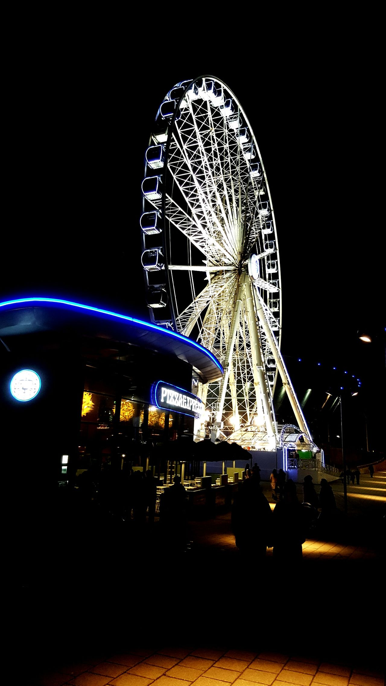 Ferris Wheel Night People Outdoors Winter Road Weather Cold Temperature Love To Take Photos ❤ Photography City Nice Modern Nightlife Funny Freash Air Fantastic View Adapted To The City