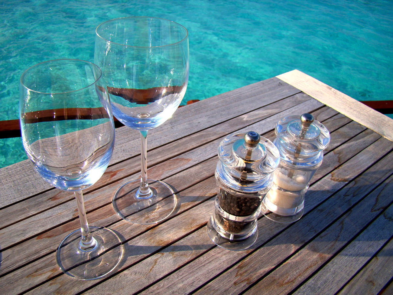 Alcohol Close-up Day Drinking Glass Food And Drink High Angle View Lunch Maldives No People Outdoors Outdoors Restaurant Restaurant Decor Summer Table Table Arrangement Table Setting Tropical Island Water Wine Wineglass