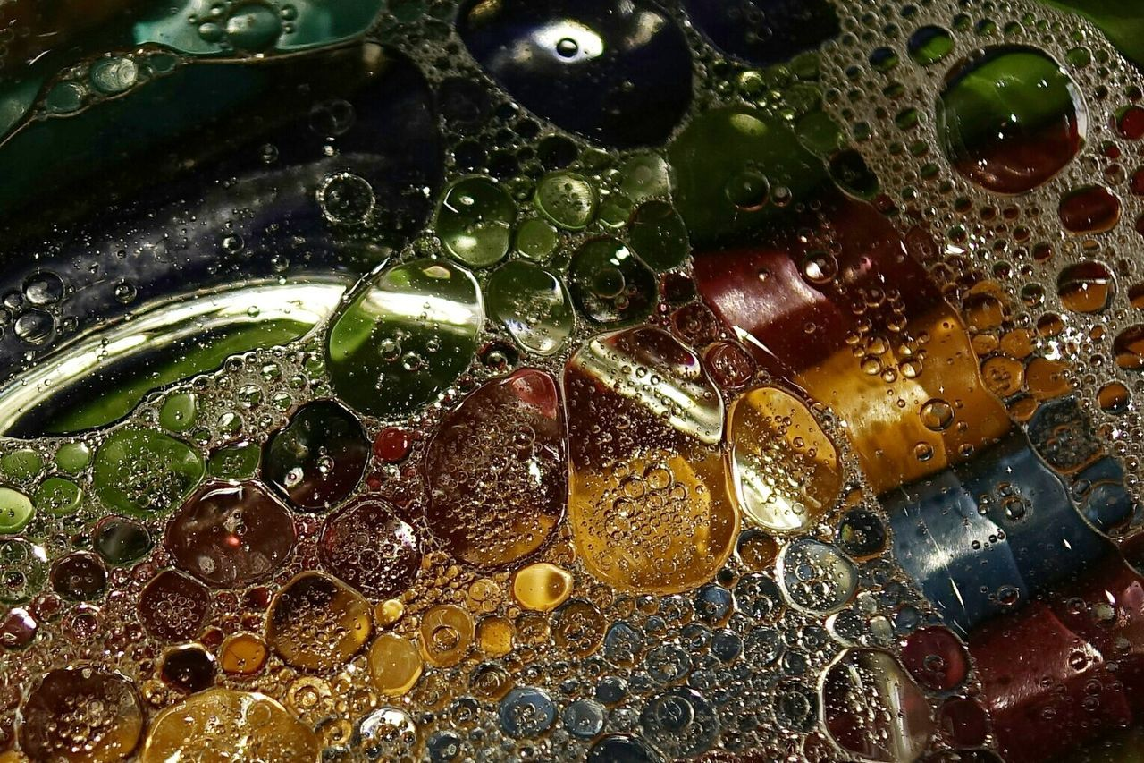 Close-up Bubbles Rainbow Colors Colors Bubble Abstract Photography Macro Macroporn Macro_collection Water Oil Backgrounds Eye4photography  Getting Inspired EyeEm Best Shots