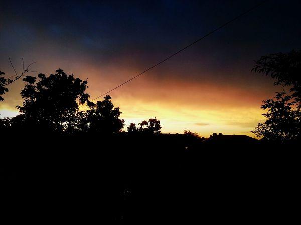 Sunset City Rain Day Rainclouds