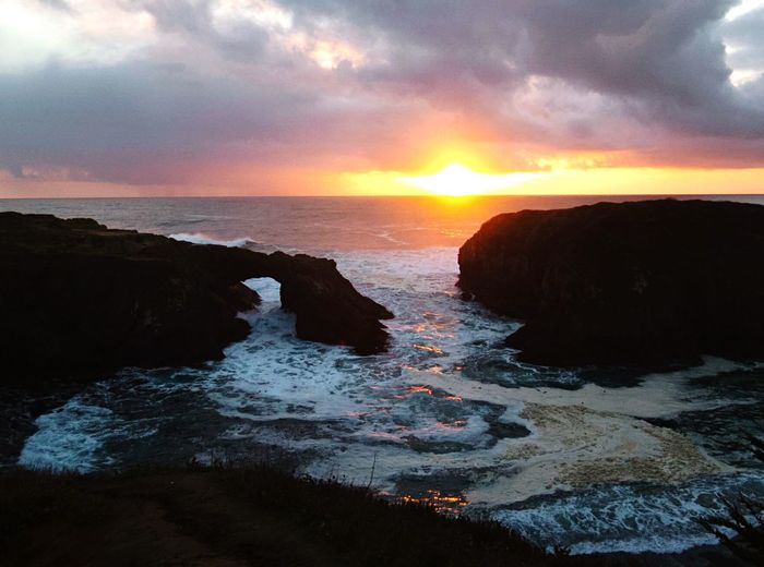Blue Wave Headlands Northern California Sunset My Homelands A Peaceful Moment My Point Of View Eyem Best Shots