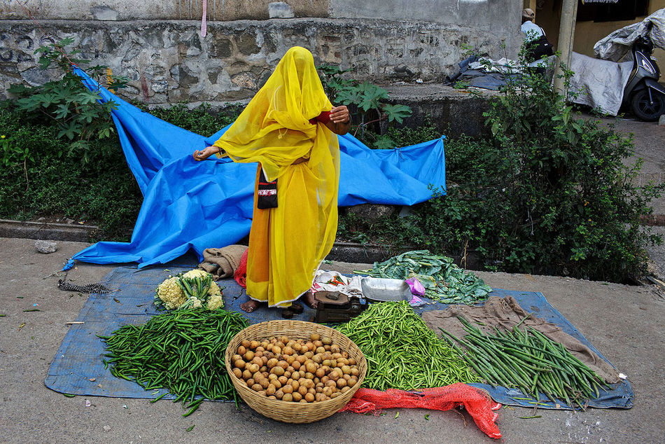 A vegetable seller at the weekly market in Kamshet, Maharashtra state, India. People Street Photography Travel India ASIA Travel Photography City Kamshet