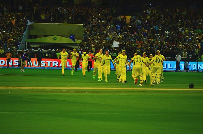 Australia 's Moment Of Glory during the Cricket World Cup 2015 @ Mcg History Captured