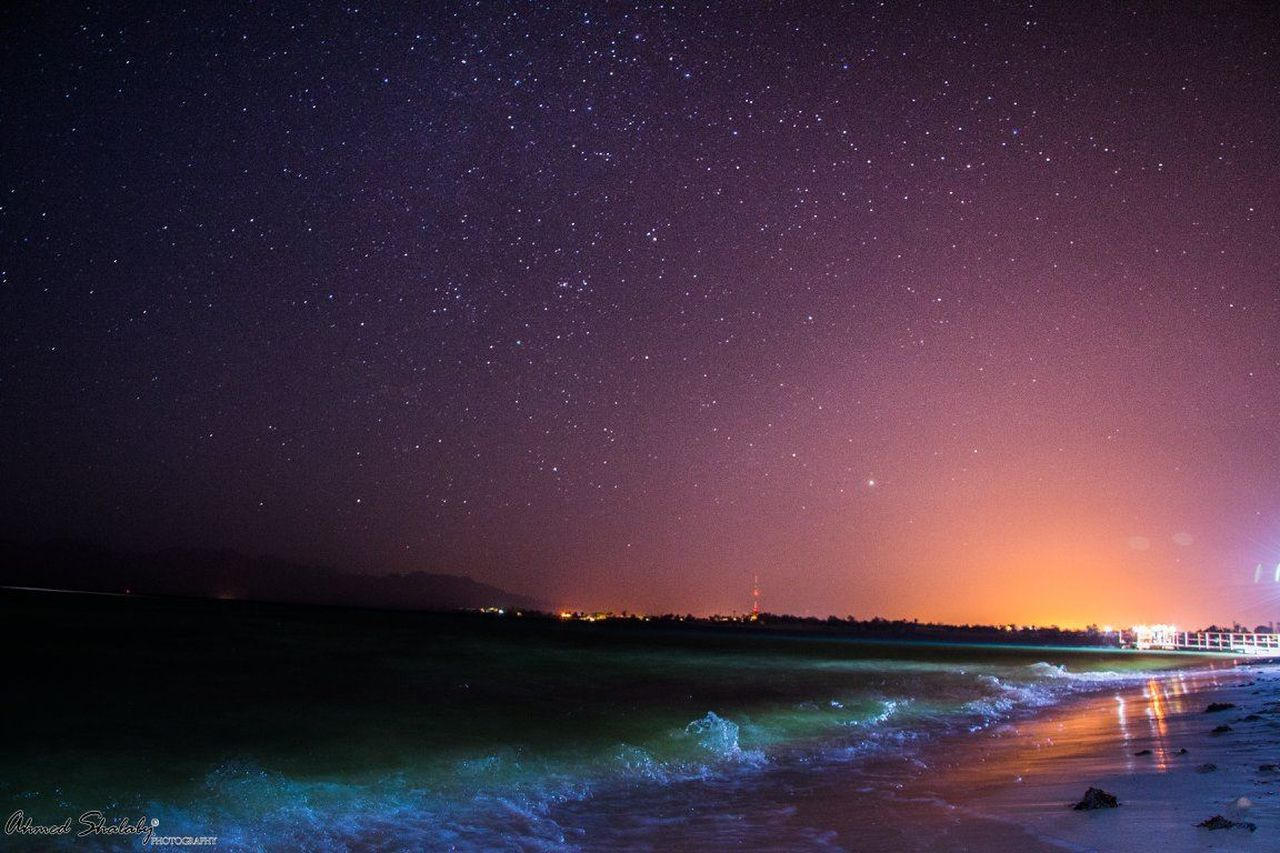 Astronomy Beauty In Nature Galaxy Night Outdoors Sky Star - Space Stars Water