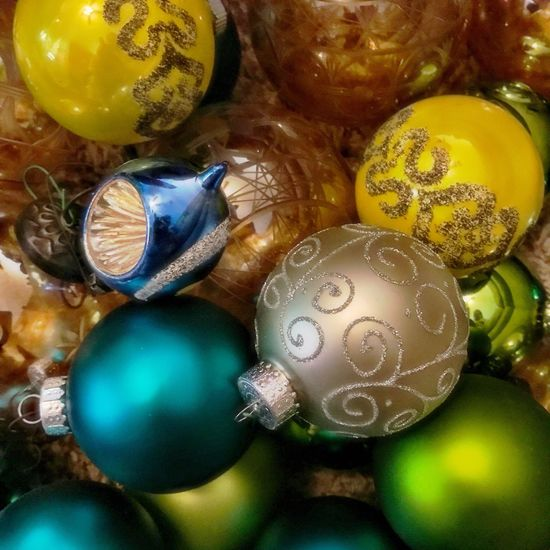 Christmas Decoration Christmas Bauble Antiques Christmas Ornament No People Close-up Holiday - Event Winter Colorful Glass Mercury Glass Vintage Christmas Decorations