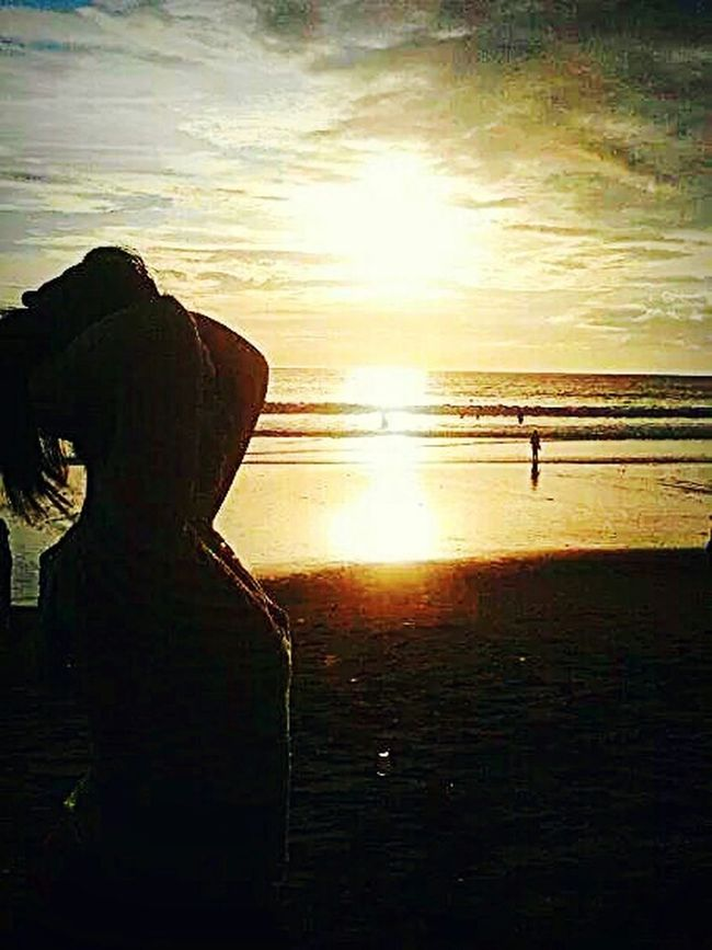 Me, My Self And I I Love BALI Traveling Kuta Bali Bali Sunset Siluet Beach Amazing View Wonderful