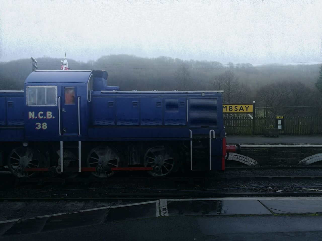 No People Day Outdoors Locomotive Class 14 Preserved Railway Bad Weather Blue