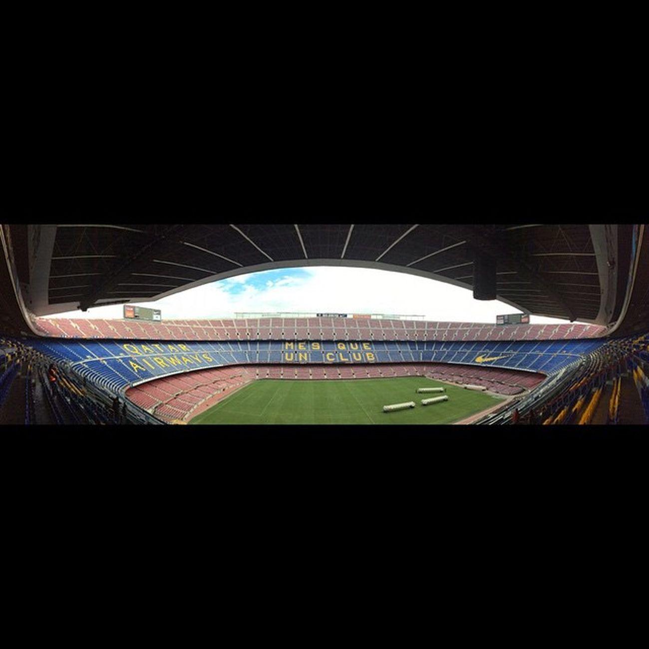 Campnou Mesqueunclub Noucamp Morethanaclub barcelona fcbarcelona fcb panoramic view stadium cataluna catalunya spain espana espanya qatarairways nike nofilter amazing fantastic iwasthere trip travel