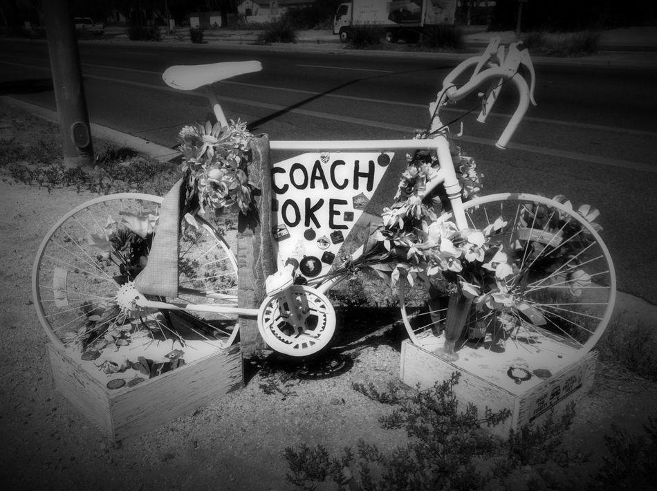 Biker Biker Memorial Black And White Blackandwhite Blackandwhite Photography Ghost Bike Memorial Sports Photography Street Photography Streetphoto_bw Streetphotography