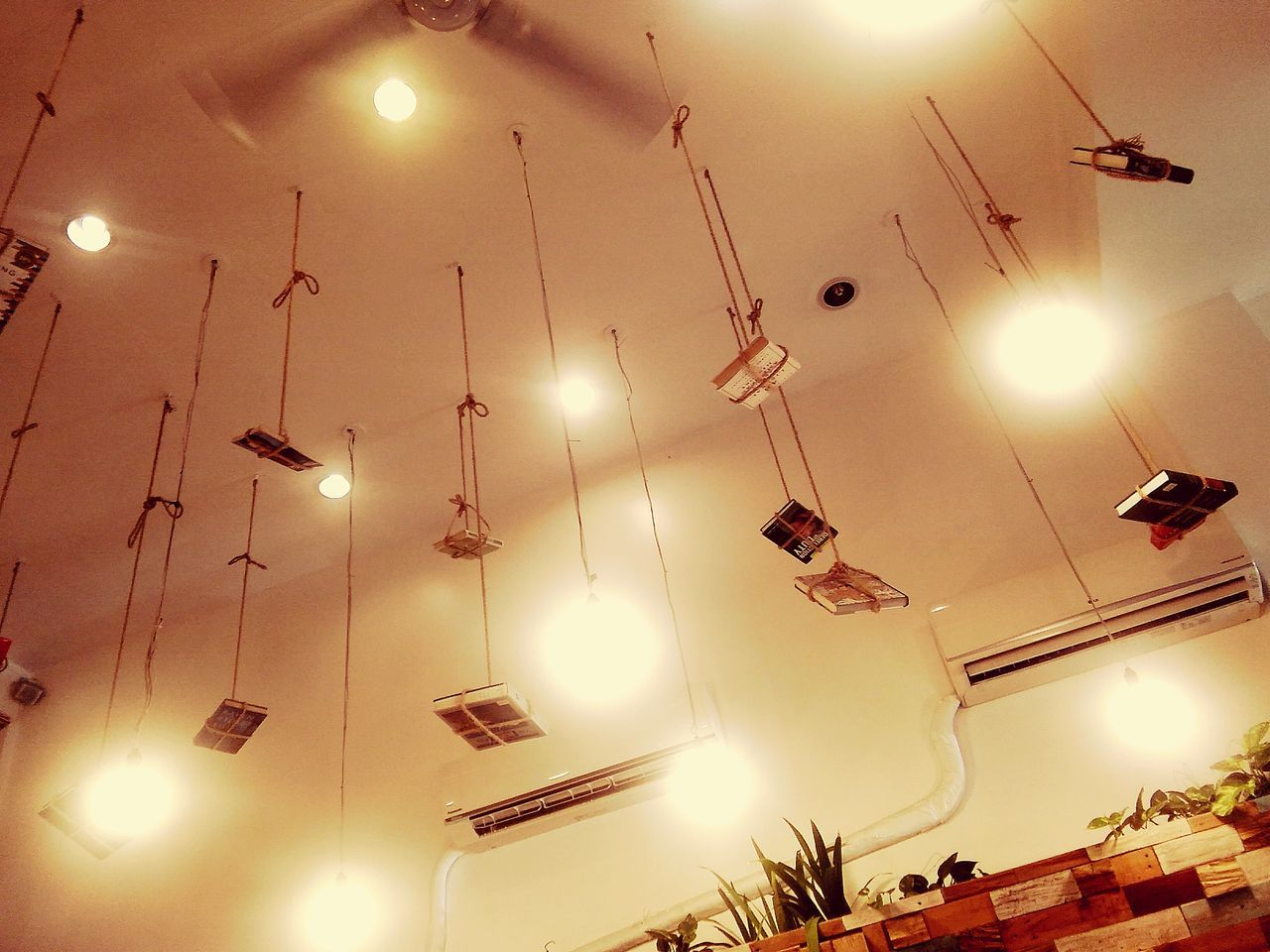 Hanging books in the ceiling. Bookstagram Booksbooksbooks