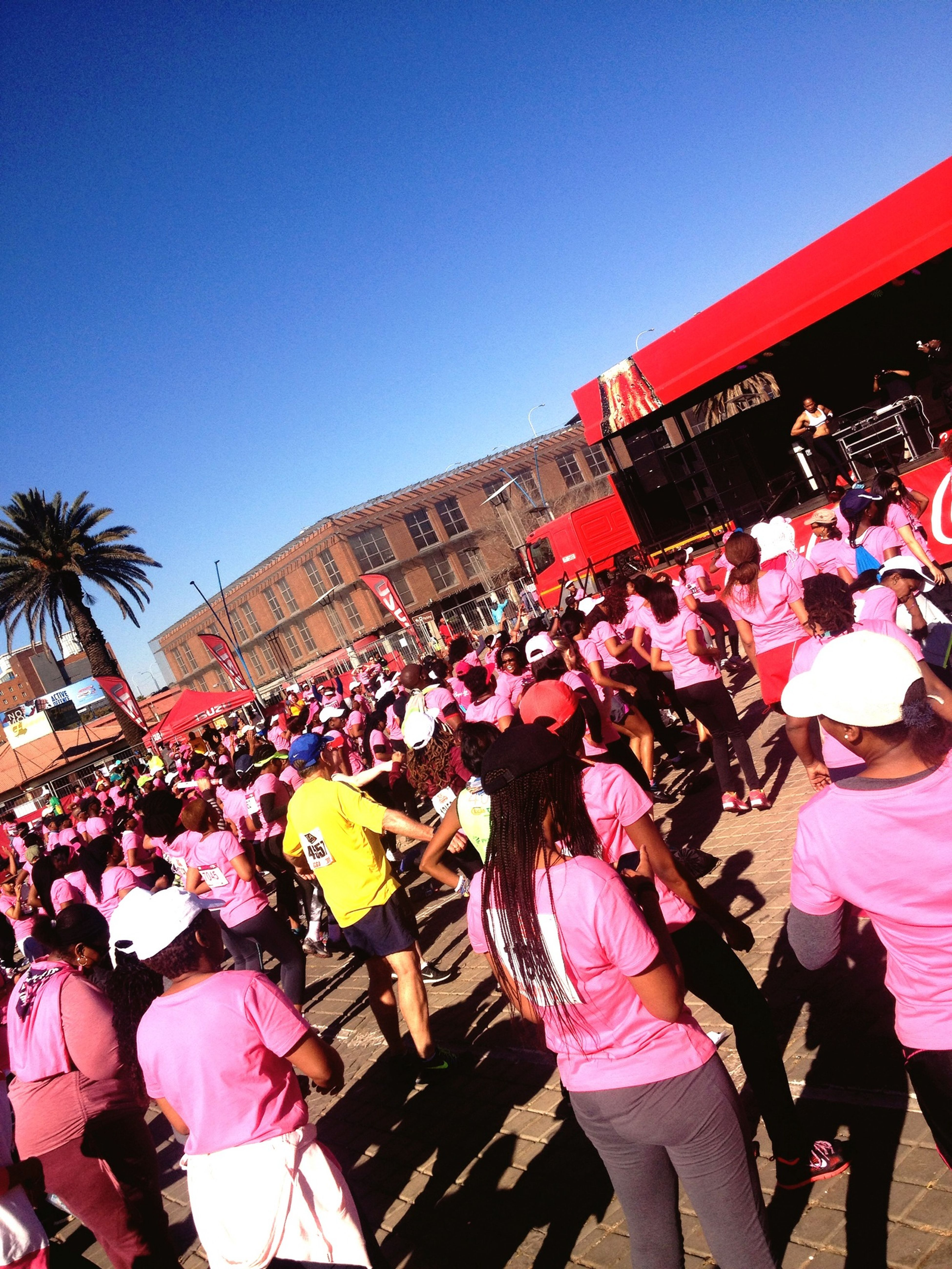 A Health Day With My SouthAfrican Women At The TotalSportsWomensRace Johannesburg PinkDrive Fighting Cancer Out 🎀