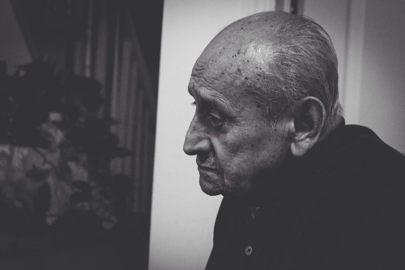 """El Padrino. """" he really is my godfather"""" Senior Adult Senior Men Real People Completely Bald Balding One Person Mature Men Indoors  Lifestyles Leisure Activity Men Close-up Day Adult People EyeEmNewHere Live For The Story The Street Photographer - 2017 EyeEm Awards The Photojournalist - 2017 EyeEm Awards The Portraitist - 2017 EyeEm Awards EyeEm Best Shots"""