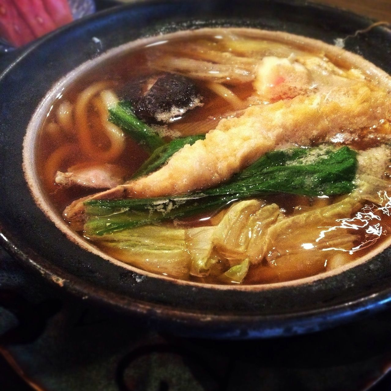 Close Up Of Asian Soup With Cabbage And Meat