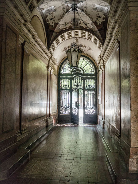Architecture Corridor Corridor View Empty Gate Historic Interior No People The Way Out Budapest, Hungary