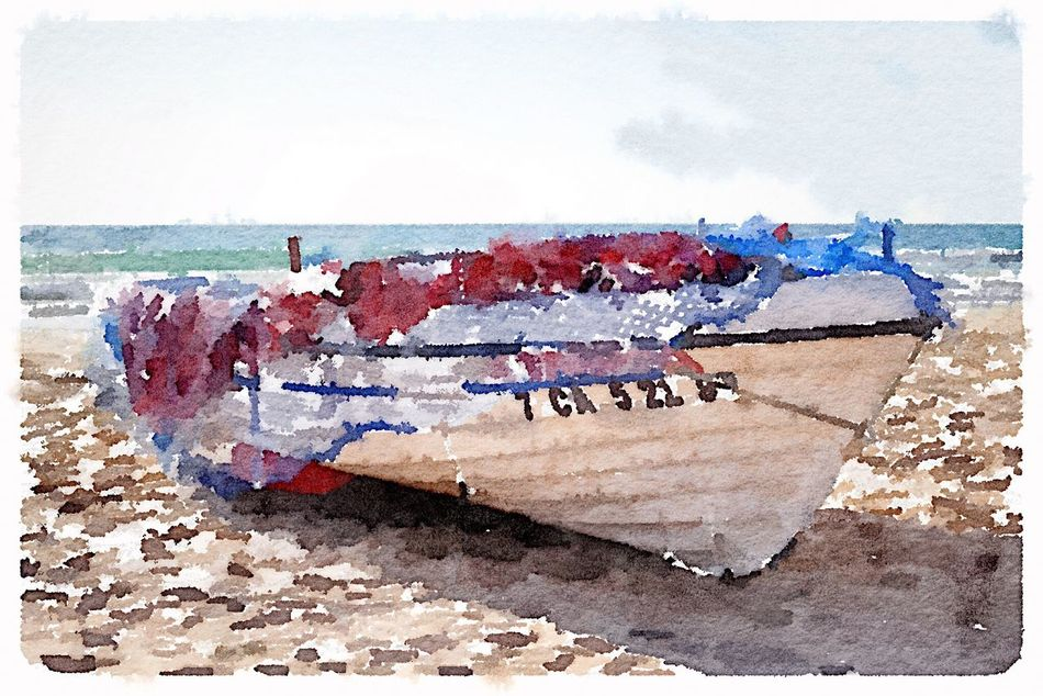 Watercolor Watercolour Watercolor Painting Watercolours Watercolors  Boat Fishing Boat Painting Of Boat Electronic Art No People Horizon Over Water Wave Water Watercolour Painting Electronic Watercolour Electronic Painting Art White Boat Boat Watercolour