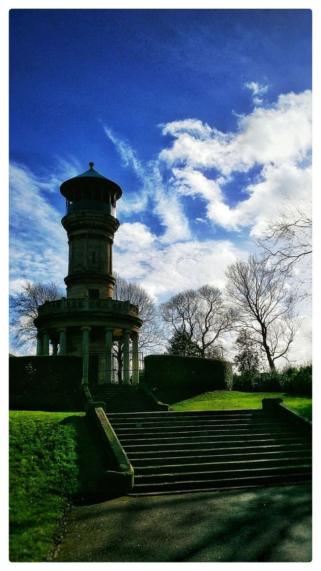 Sky Skylovers Locke Park Tower Autumn England Yorkshire