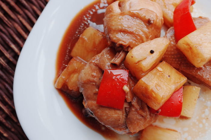 Asian  Asian Dish Asian Food Chicken Recipe Close-up Dinner Filipino Dish Filipino Food Food Food And Drink Freshness Indoors  Indulgence Lunch Meal Philippines Pineapple Recipe Plate Ready-to-eat Red Savory Food Served Serving Size Tomato