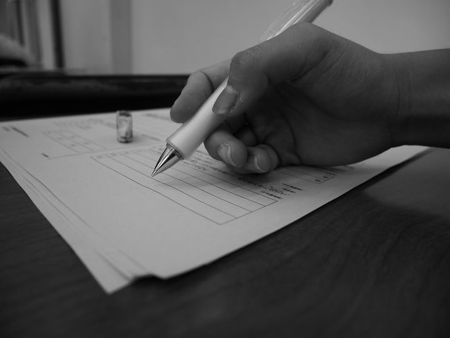 Person Indoors  Holding Human Finger Paper Part Of Close-up Myfriend Studying Japan Photography Japan Lumix Monochrome Afterschool  Afternoon Classroom Desk Monochrome Photography
