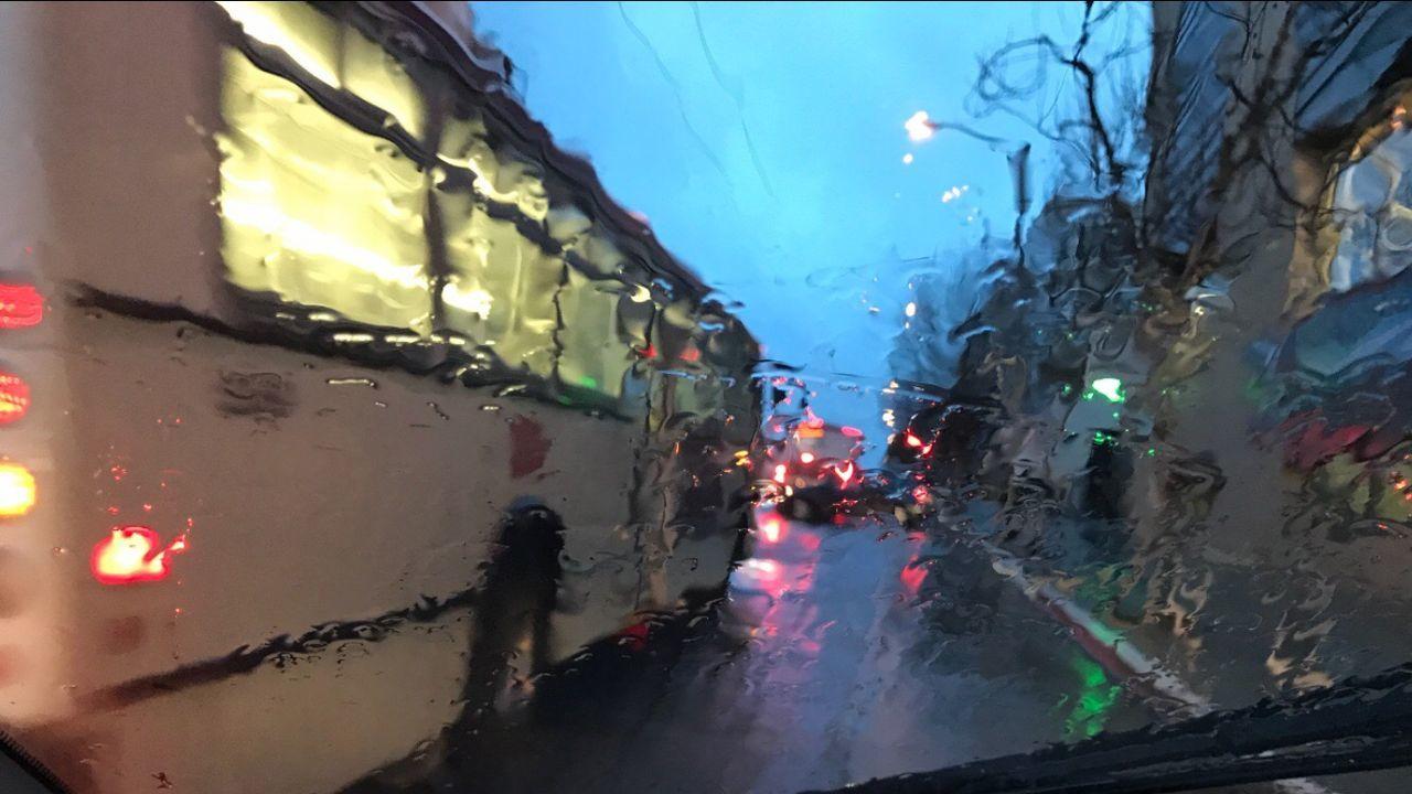 Adapted To The City Outdoors Road Building Exterior Sky Illuminated Tree City Night Rain EyeEmNewHere The City Light City Bus San Francisco Shotoniphone7