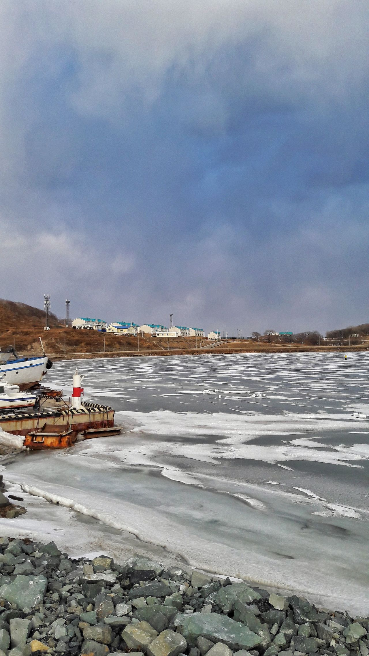 Salt - Mineral Business Finance And Industry Salt Flat Outdoors Nature Salt Basin Snow Landscape Agriculture Cloud - Sky Sky Cold Temperature Day No People Beauty In Nature Like4like Photography Like Follow4follow Sea No Filter Winter Water